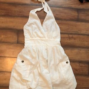 Backless white dress American eagle